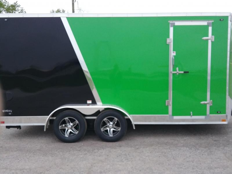"""7x16 (+12"""" Additional Height) Stealth Titan Blackhawk Motorcycle Trailer*HAIL DAMAGED-CALL FOR DISCOUNT PRICING*"""