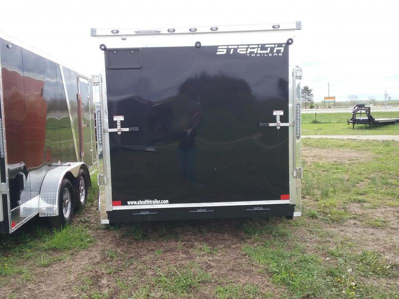 7x14 Stealth Titan Blackhawk Enclosed Cargo Trailer *HAIL DAMAGED-CALL FOR DISCOUNT PRICING*