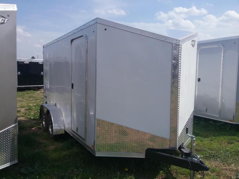 7X14 Plus 6 Inches Impact Tremor Enclosed Cargo Trailer