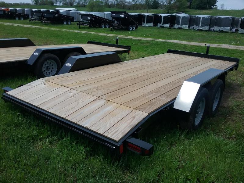 "82""x18' Liberty 7K Car Hauler with 2' Dovetail and 5' Slide in Ramps"