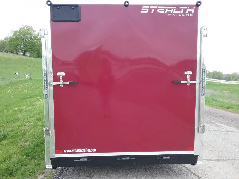 """7x16 (+12"""" Additional Height) Stealth Titan Blackhawk Motorcycle Trailer *HAIL DAMAGED-CALL FOR DISCOUNT PRICING*"""