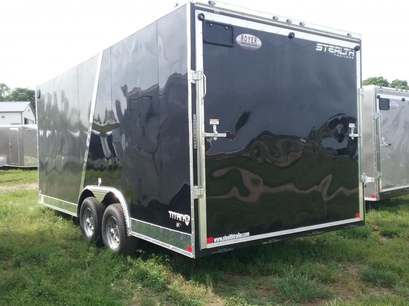 8.5X18 Plus 6 Inches Stealth Titan Enclosed Cargo Trailer