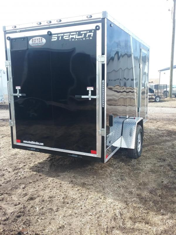 "6x12 (+6"" Additional Height) Stealth Titan Enclosed Cargo Trailer with Flash Package *HAIL DAMAGED-CALL FOR DISCOUNT PRICING*"