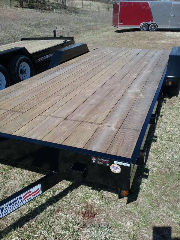 "7K 82""x18' Liberty Car Hauler with Slide in Ramps"