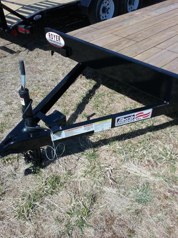 "7K 82""x18' Liberty Car Hauler with Slide in Ramps"