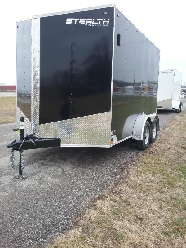 "2019 Stealth 7x12 (+12"" Additional Height) Mustang Enclosed Cargo Trailer"