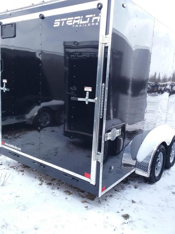 "2019 Stealth Mustang 7x16 (+12"" Additional Height) Enclosed Cargo Trailer"