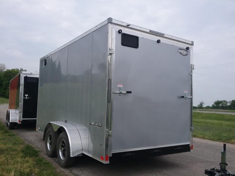 7X14 Plus 12 Inches Impact Tremor Enclosed Cargo Trailer