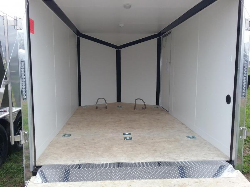 7x12 Stealth Titan Blackhawk Enclosed Motorcycle Trailer *HAIL DAMAGED-CALL FOR DISCOUNT PRICING*
