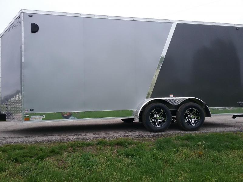 "7x18 (+12"" Additional Height) Stealth Titan Motorcycle Trailer *HAIL DAMAGED-CALL FOR DISCOUNT PRICING*"