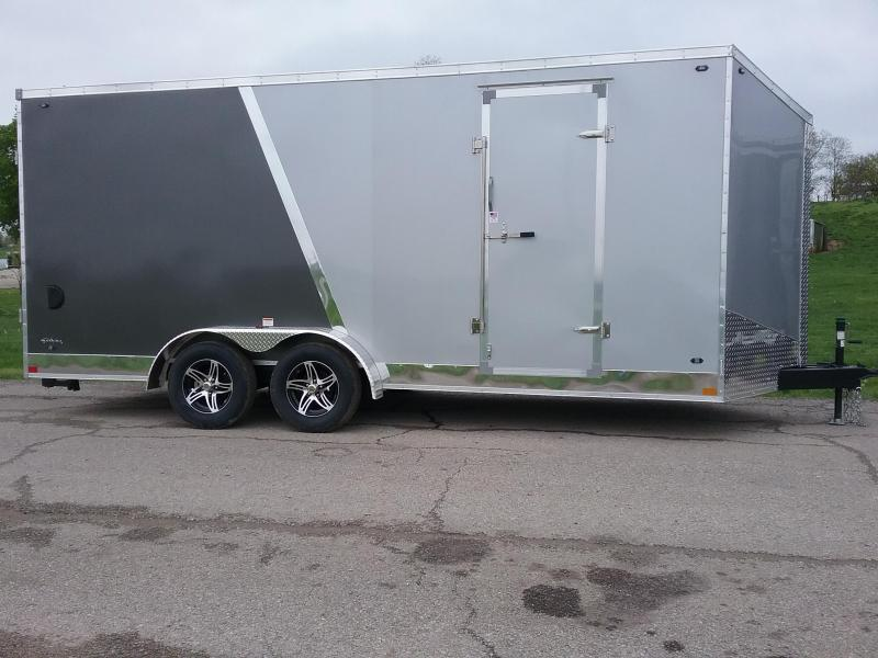 """7x18 (+12"""" Additional Height) Stealth Titan Motorcycle Trailer *HAIL DAMAGED-CALL FOR DISCOUNT PRICING*"""