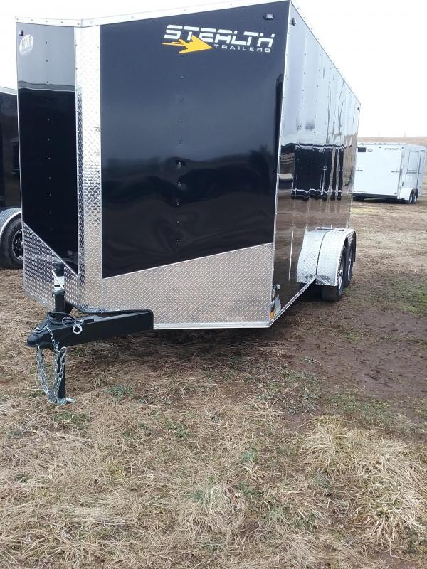 "2019 Stealth 7x16 (+6"" Additional Height) Mustang Enclosed Cargo Trailer"