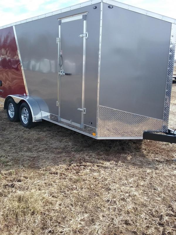 "7x16 (+12"" Additional Height) Stealth Titan Enclosed Cargo Trailer *HAIL DAMAGED-CALL FOR DISCOUNT PRICING*"