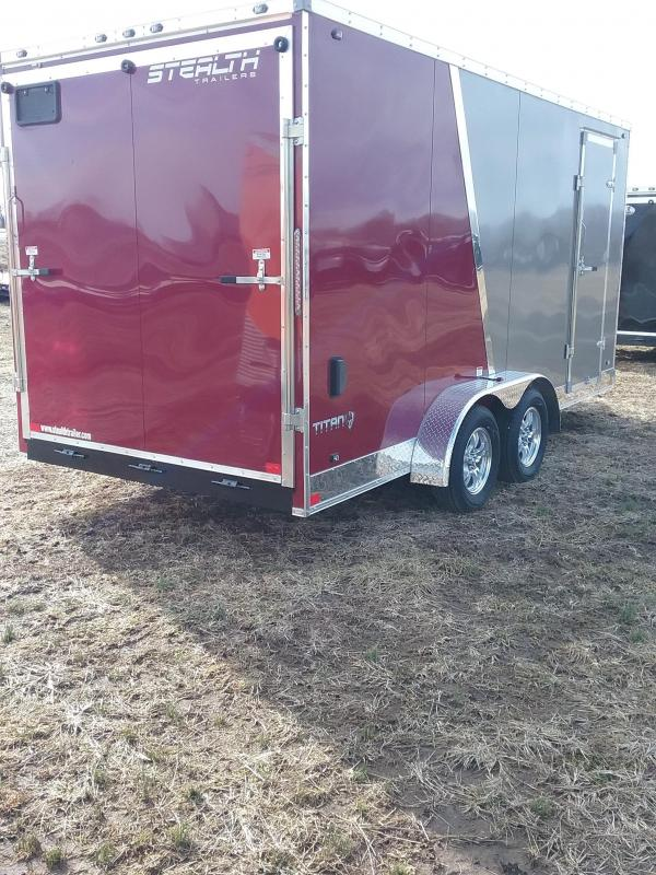 """2019 Stealth Titan 7x16 (+12"""" Additional Height) Enclosed Cargo Trailer"""