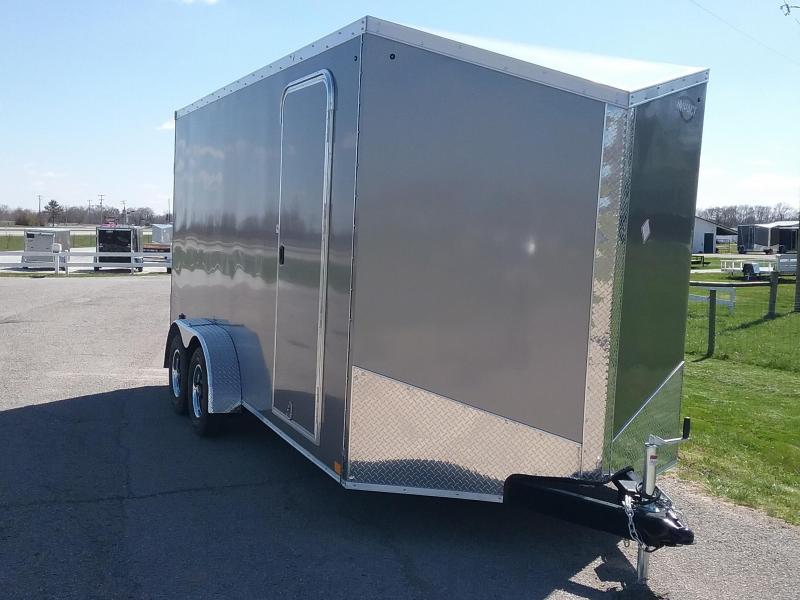 7X16 Plus 12 Inches Impact Tremor Enclosed Cargo Trailer