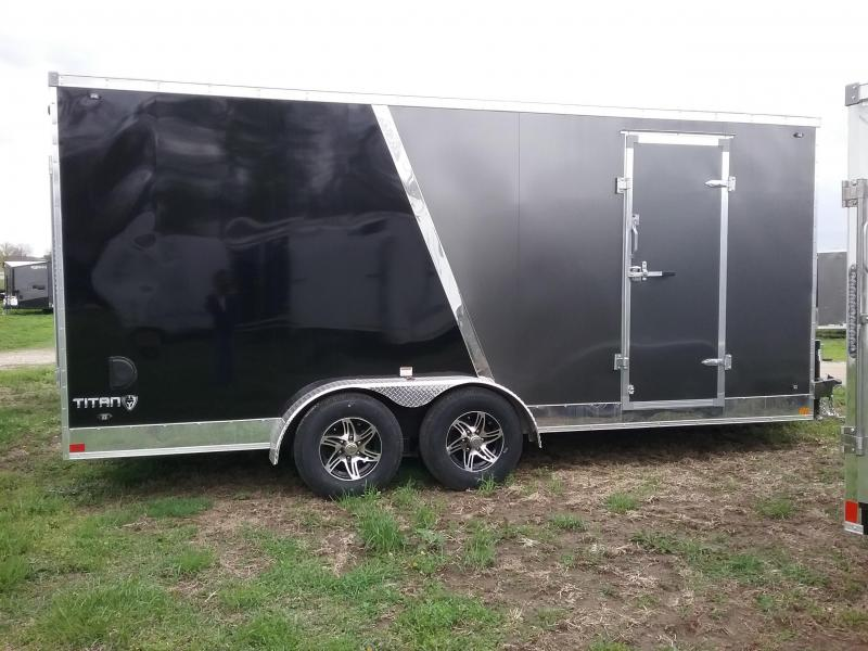 """7x18 (+12"""" Additional Height) Stealth Titan with 5200# Axles *HAIL DAMAGED-CALL FOR DISCOUNT PRICING*"""
