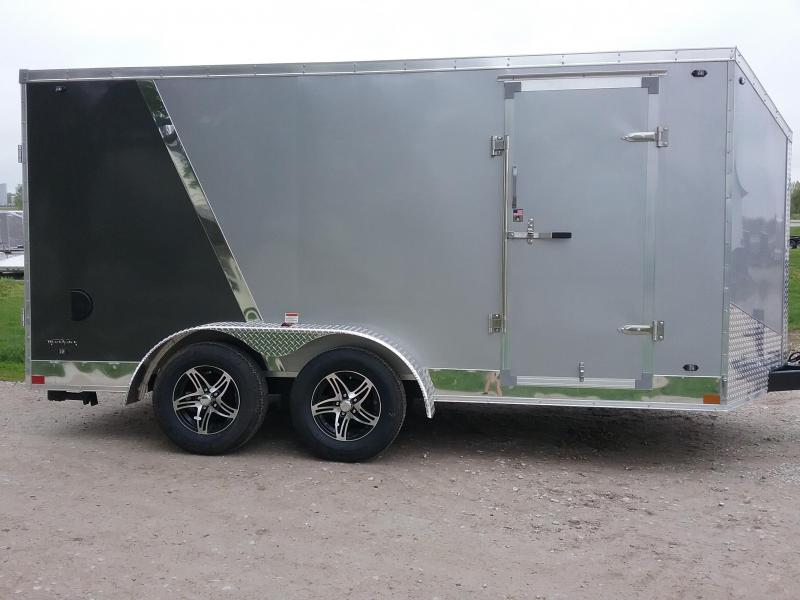 7x14 Stealth Titan Blackhawk Motorcycle Trailer *HAIL DAMAGED-CALL FOR DISCOUNT PRICING*