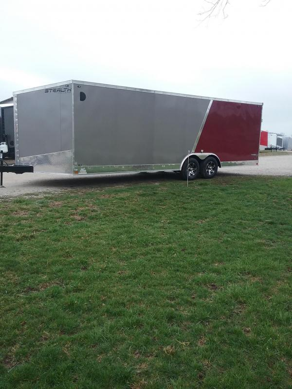8.5x24 Stealth Titan Enclosed Cargo Trailer with 5200# Axles *HAIL DAMAGED-CALL FOR DISCOUNT PRICING*