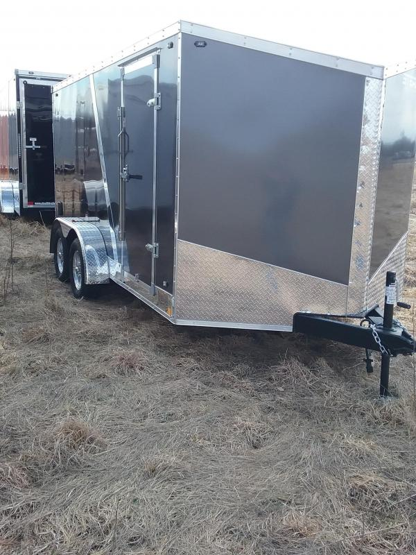 7x14 Stealth Titan Enclosed Cargo Trailer with Flash Package *HAIL DAMAGED-CALL FOR DISCOUNT PRICING*