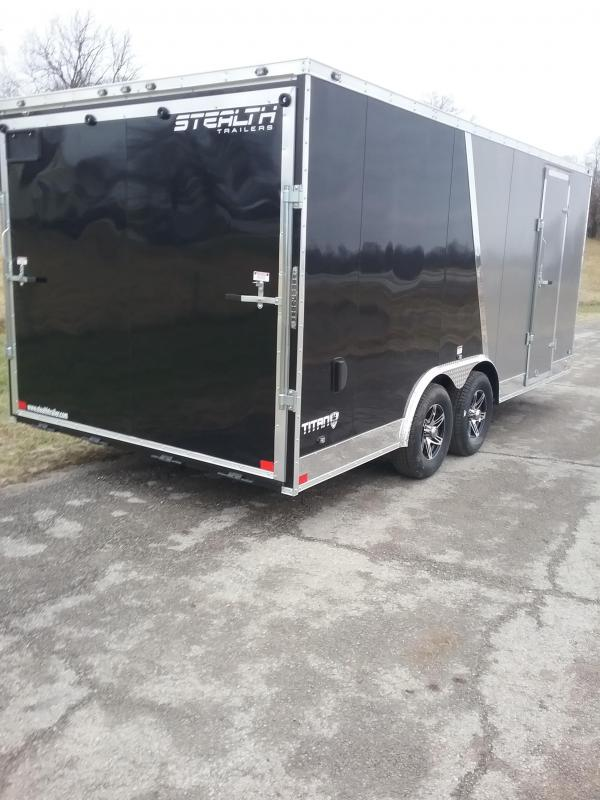"2019 Stealth 8.5x18 (+12"" Additional Height) Titan Enclosed Cargo Trailer"