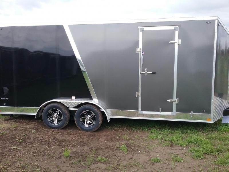 "7x18 (+12"" Additional Height) Stealth Titan Blackhawk Motorcycle Trailer*HAIL DAMAGED-CALL FOR DISCOUNT PRICING*"