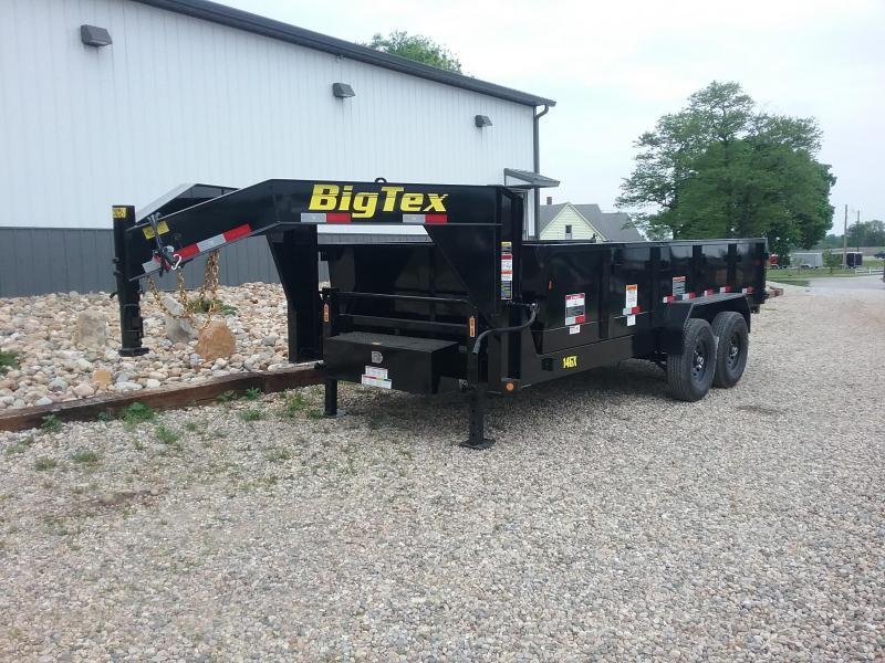 14GX 83X16 Big Tex Gooseneck Dump Trailer