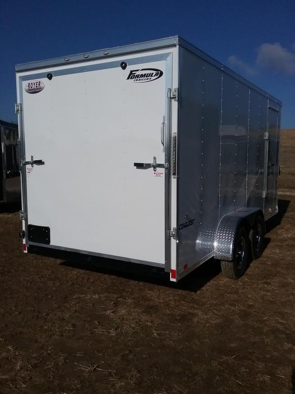 """7x16 (+12"""" Additional Height) Formula Conquest *HAIL DAMAGED-CALL FOR DISCOUNT PRICING*"""