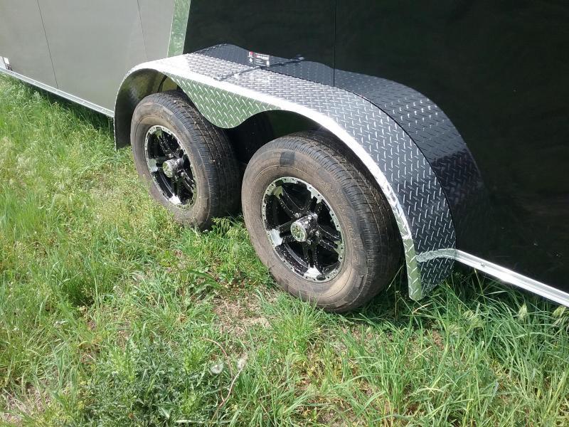 7X18 Plus 12 Inches Impact Shockwave Enclosed Cargo Trailer