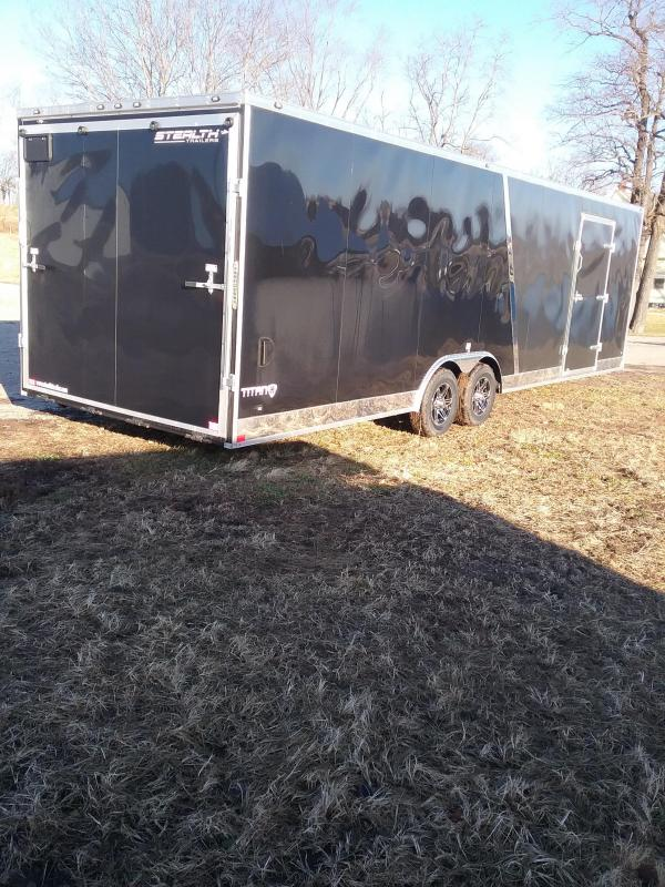 2019 Stealth Trailers 8.5x28 12 Additional Height Titan Enclosed Cargo Trailer