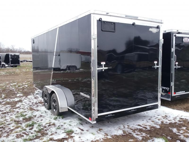Impact 7X 18 Plus 12 Inches Shockwave Enclosed Cargo Trailer