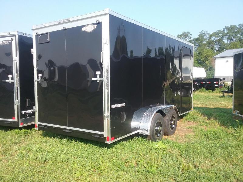 "7X16 (+12"" Extra Interior Height) Impact Shockwave Enclosed Cargo Trailer"