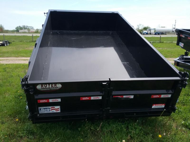 7x12 Liberty 14K Dump Trailer with Split Spreader Gate-12K Jack-Tarp-Ramps