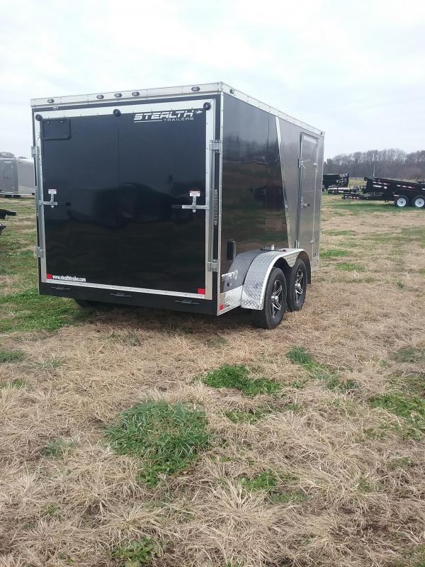 2019 Stealth Titan 7x12 with Flash Pkg Enclosed Cargo Trailer