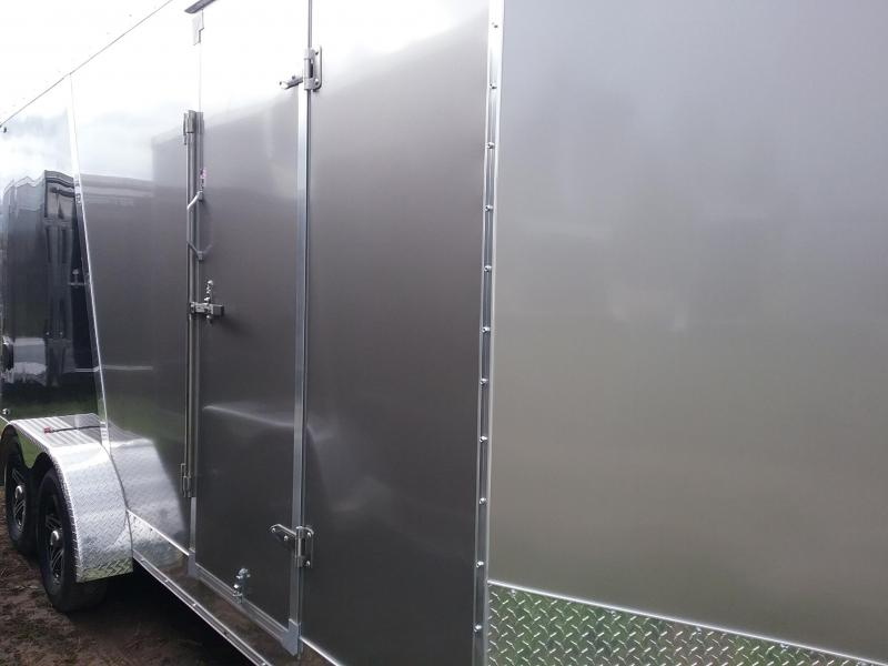 "7x18 (+12"" Additional Height) Stealth Titan Blackhawk Enclosed Motorcycle Trailer*HAIL DAMAGED-CALL FOR DISCOUNT PRICING*"