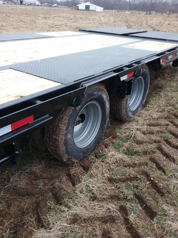 40' PJ-12K Axles-Elec/Hyd Brakes- Slide Winch Track- Monster Ramps