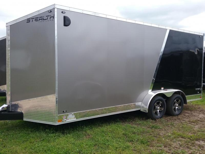 "7x18 (+12"" Additional Height) Stealth Titan Enclosed Cargo Trailer*HAIL DAMAGED-CALL FOR DISCOUNT PRICING*"