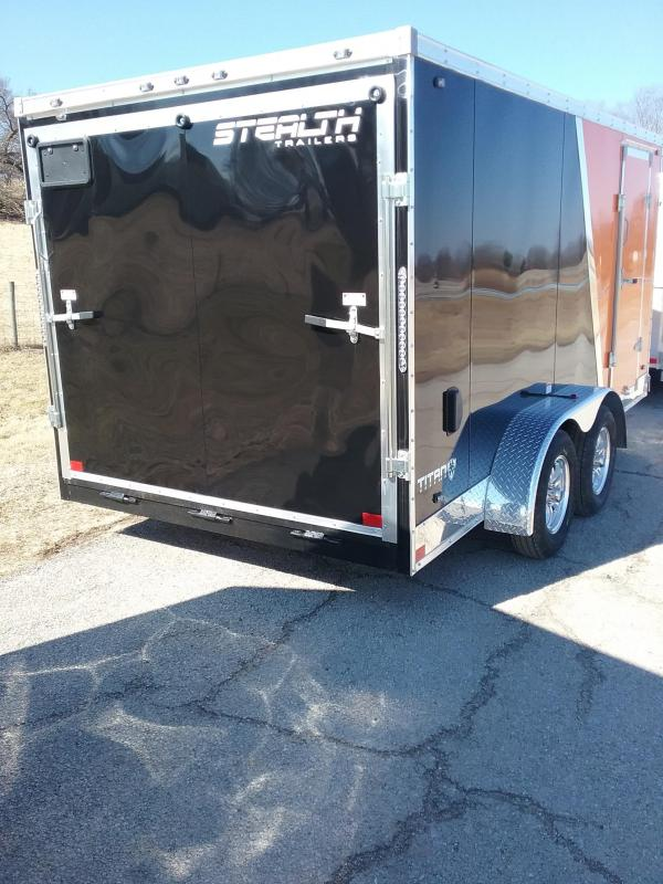 7x14 Stealth Titan Enclosed Cargo Trailer with Flash Package