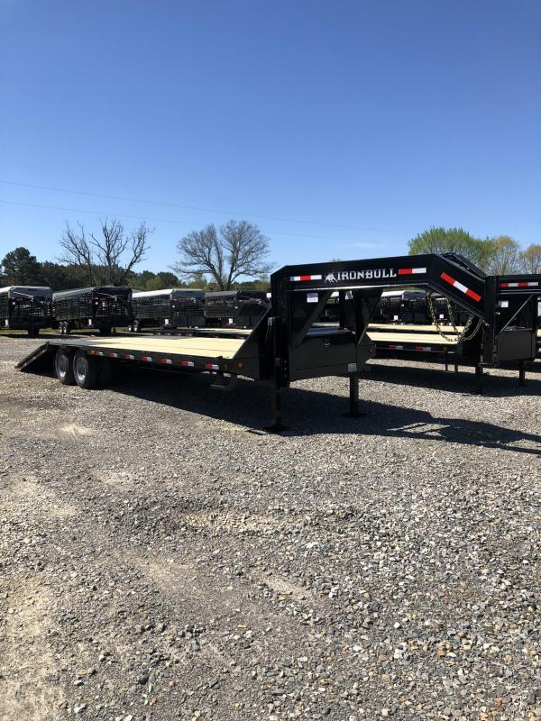 2018 Norstar Iron Bull 32 Ft Flat Deck Hydraulic Dove Flatbed Trailer