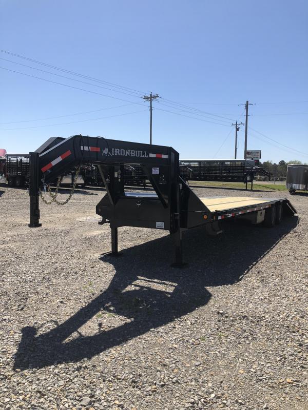 2018 Norstar Iron Bull 32 Ft Flat Deck Hydraulic Dove Flatbed Trailer