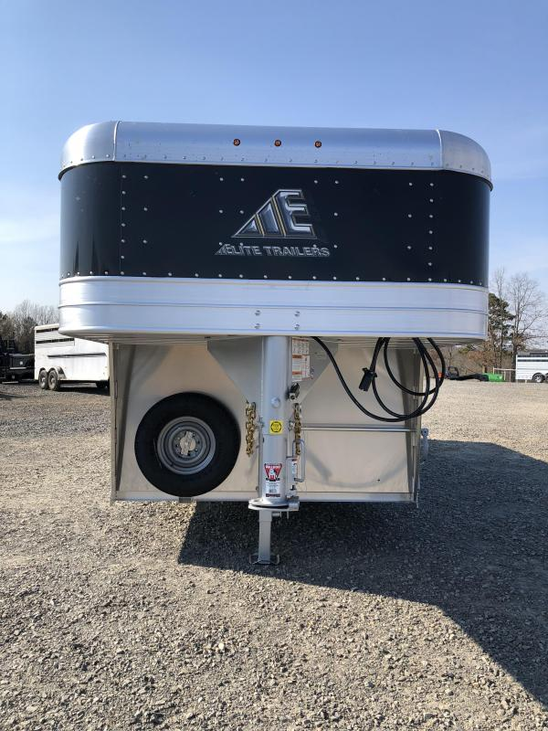 2020 Elite Trailers 8x24 Show Cattle Stock Trailer