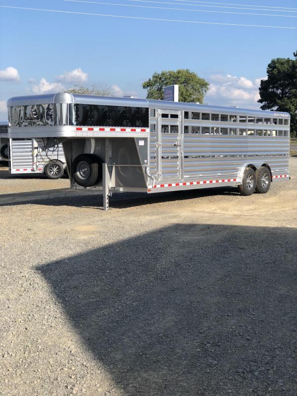 2019 Elite Trailers 8x24 Show Cattle Livestock Trailer