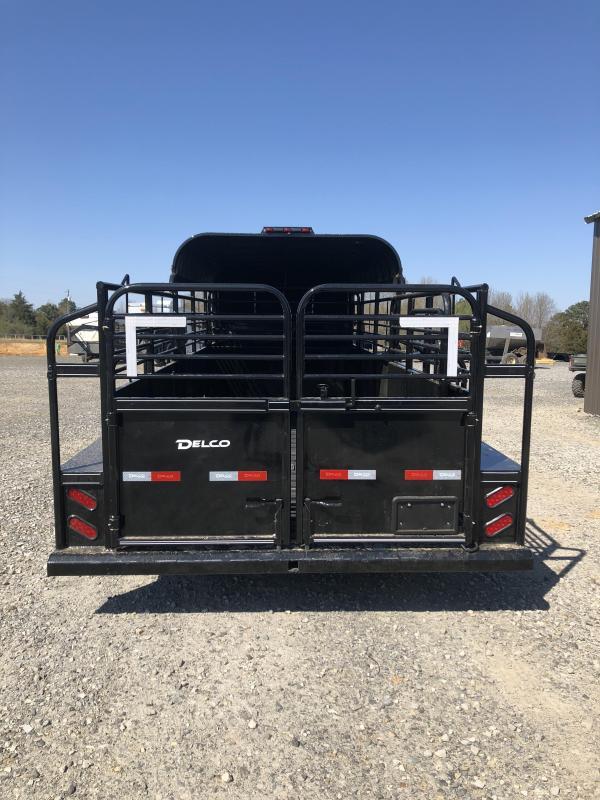 2019 Delco Trailers 20x6.8 Premium Catch Livestock Trailer