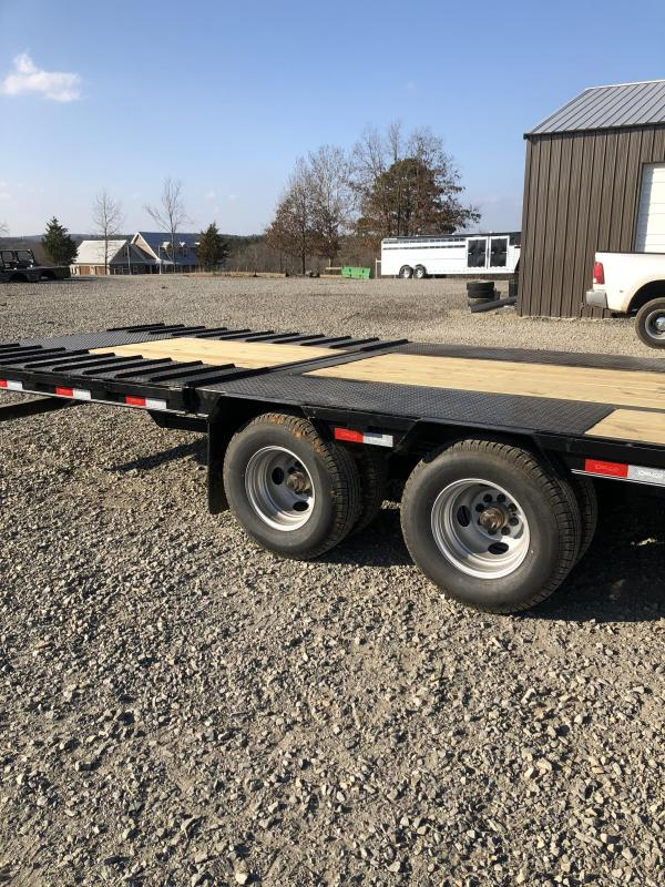 2019 Delco Trailers 36 Ft Flatbed w/ Hydraulic Dove Tail Flatbed Trailer