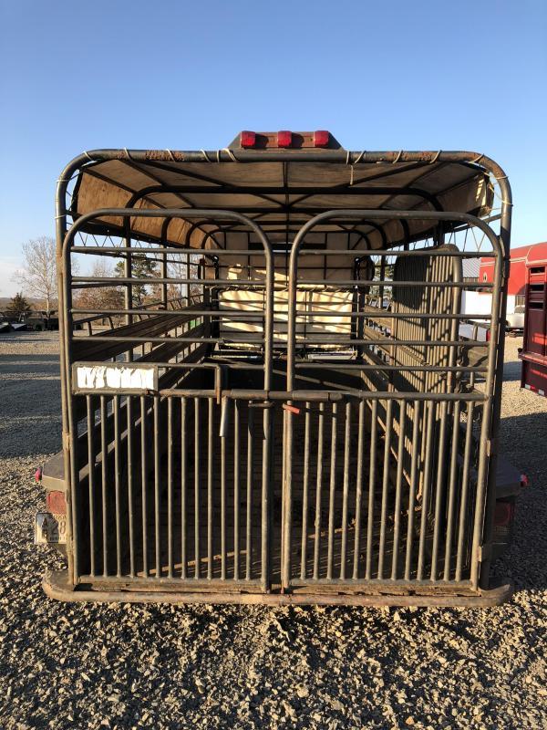 1991 Gooseneck 14x6 Stock Livestock Trailer