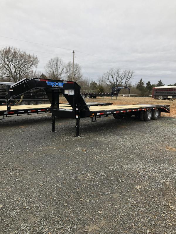 2019 Top Hat Trailers 27 plus 5 Flatbed with Jumbo Ramps Flatbed Trailer