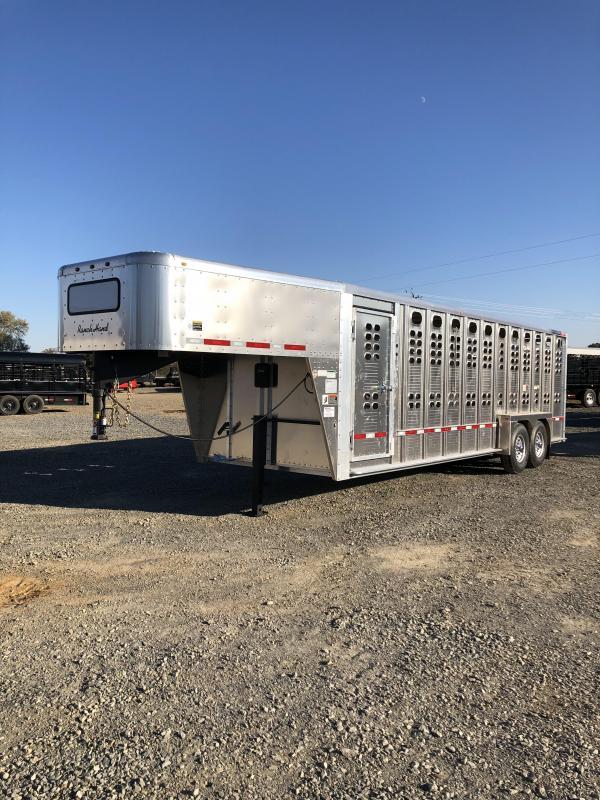 2019 Wilson Trailer Company 24x7 Ranch Hand Roll-up door on rear Livestock Trailer