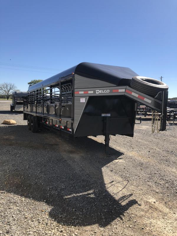 2019 Delco Trailers 24x6.8 Premium Livestock Trailer