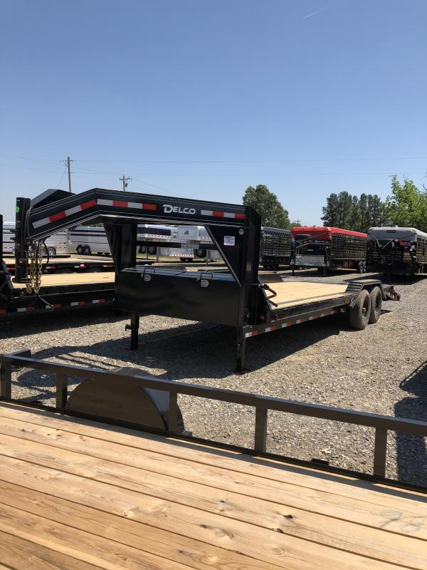 2019 Delco Trailers 24 ft GN Equipment Hauler in Norfork, AR