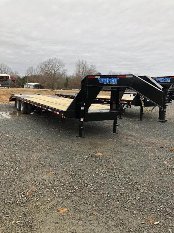 2019 Top Hat Trailers 27 plus 5 Flatbed with Combo Dove Flatbed Trailer