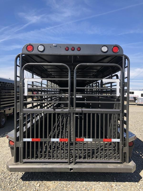 2019 Delco Trailers 32x6.8 Stock Livestock Trailer